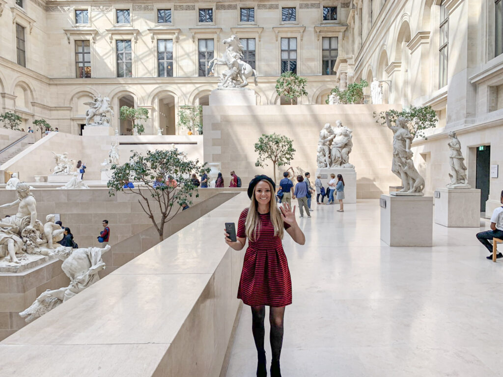 louvre museum in paris france.  mid price travel blogger andra birkhimer